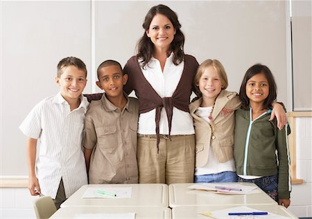 simsearch:600-01184690,k - Students and Teacher in Classroom Stock Photo - Premium Royalty-Free, Code: 600-01184751