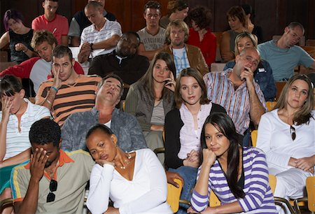 front row seat - Bored People in Auditorium Seats Stock Photo - Premium Royalty-Free, Code: 600-01195616