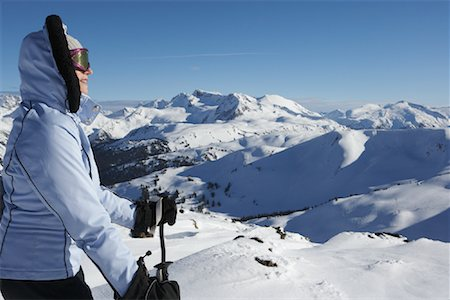 simsearch:600-00846421,k - Woman Skiing, Whistler, BC, Canada Stock Photo - Premium Royalty-Free, Code: 600-01224242