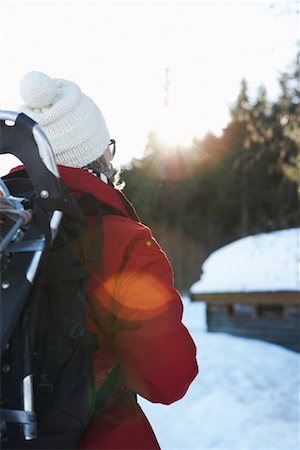 simsearch:600-00846421,k - Woman Outdoors in Winter Stock Photo - Premium Royalty-Free, Code: 600-01235205