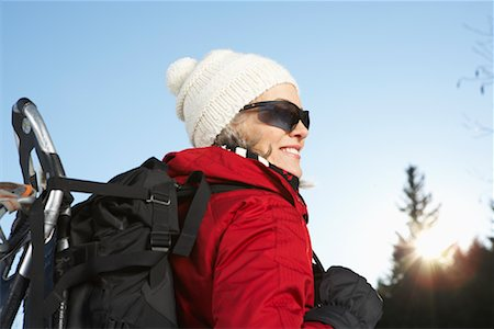 simsearch:600-00846421,k - Woman Outdoors in Winter Stock Photo - Premium Royalty-Free, Code: 600-01235206