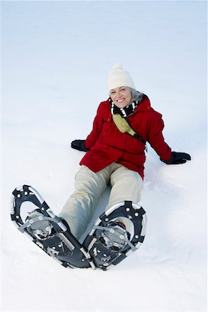 simsearch:600-00846421,k - Woman Snowshoeing Stock Photo - Premium Royalty-Free, Code: 600-01235215