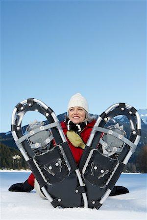 simsearch:600-00846421,k - Woman Snowshoeing Stock Photo - Premium Royalty-Free, Code: 600-01235213