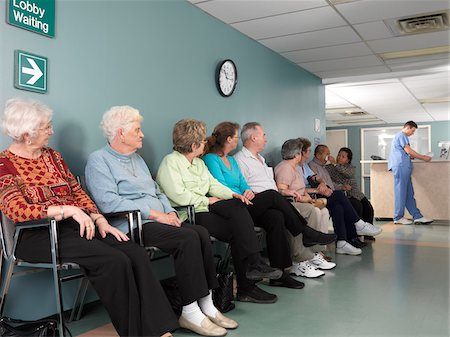 Patients in Waiting Room Stock Photo - Premium Royalty-Free, Code: 600-01236146