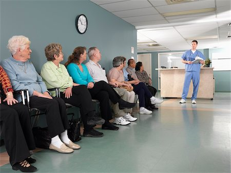 Patients in Waiting Room Stock Photo - Premium Royalty-Free, Code: 600-01236147
