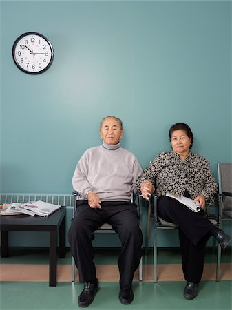 southeast asian ethnicity - Couple in Waiting Room Stock Photo - Premium Royalty-Free, Code: 600-01236141