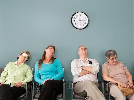 sleepy old woman - People Sleeping in Waiting Room Stock Photo - Premium Royalty-Free, Code: 600-01236151