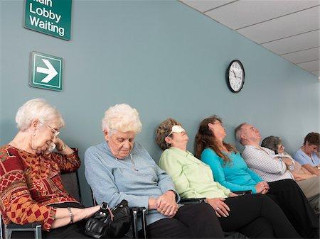sleepy old woman - People Sleeping in Waiting Room Stock Photo - Premium Royalty-Free, Code: 600-01236152