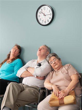 sleepy old woman - People Sleeping in Waiting Room Stock Photo - Premium Royalty-Free, Code: 600-01236153