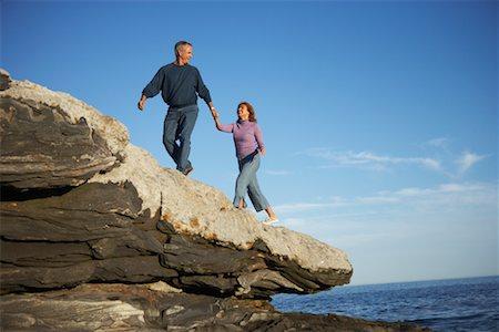 Couple, Pemaquid Point, Maine, USA Stock Photo - Premium Royalty-Free, Code: 600-01236624