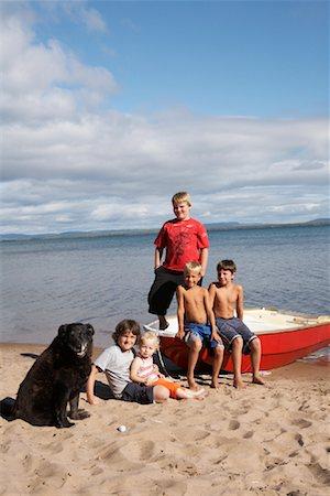 Children on the Beach Stock Photo - Premium Royalty-Free, Code: 600-01248855