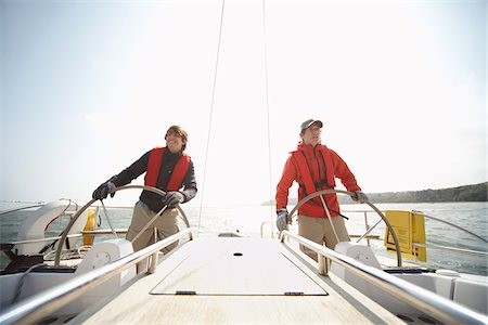 Men on Yacht Stock Photo - Premium Royalty-Free, Code: 600-01378675