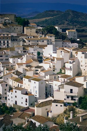 Overview of Hillside Village, Casares, Andalucia, Spain Stock Photo - Premium Royalty-Free, Code: 600-01378804