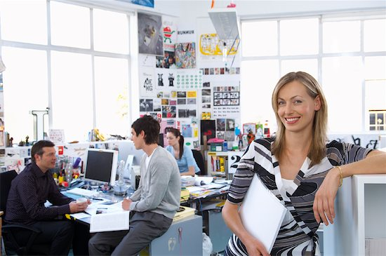 People Working in Office Stock Photo - Premium Royalty-Free, Artist: Masterfile, Image code: 600-01407162