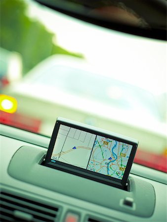 Satellite Navigation Being Used in a Car Stock Photo - Premium Royalty-Free, Code: 600-01429332