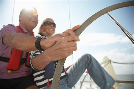 Couple Sailing Stock Photo - Premium Royalty-Free, Code: 600-01464332