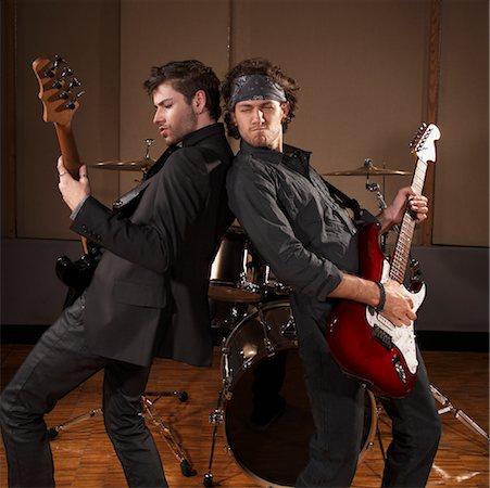 Musicians Playing Guitar Stock Photo - Premium Royalty-Free, Code: 600-01540838