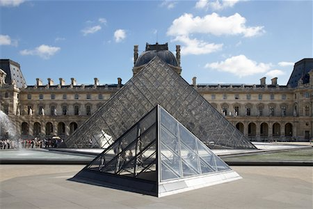 simsearch:600-02428966,k - Pyramid at Louvre, Paris, France Stock Photo - Premium Royalty-Free, Code: 600-01541041