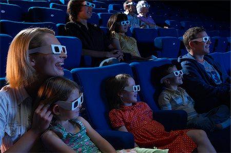 People Watching 3D Movie Stock Photo - Premium Royalty-Free, Code: 600-01572012