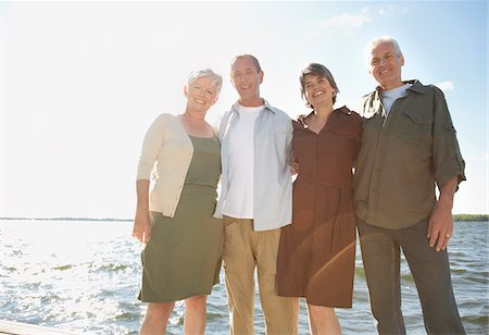 senior women - Couples Standing on Dock Stock Photo - Premium Royalty-Free, Code: 600-01606155