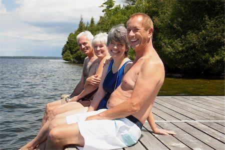 Couples on Dock Stock Photo - Premium Royalty-Free, Code: 600-01606212