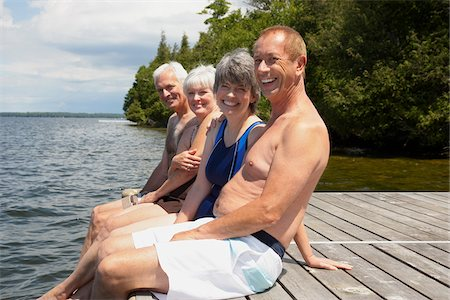 Couples on Dock Stock Photo - Premium Royalty-Free, Code: 600-01606212