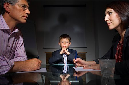 Boy in Business Meeting Stock Photo - Premium Royalty-Free, Code: 600-01606435