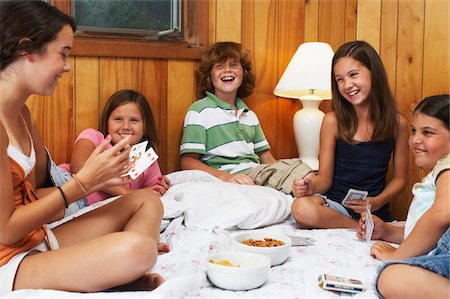 Kids Playing Card Games Stock Photo - Premium Royalty-Free, Code: 600-01606774