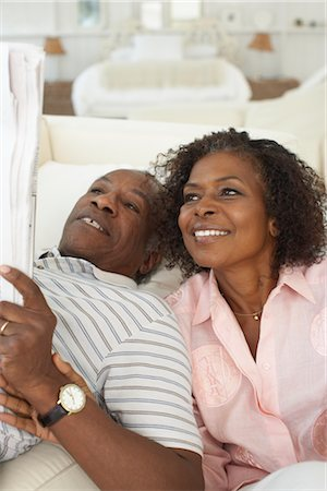 Couple Relaxing Stock Photo - Premium Royalty-Free, Code: 600-01614035