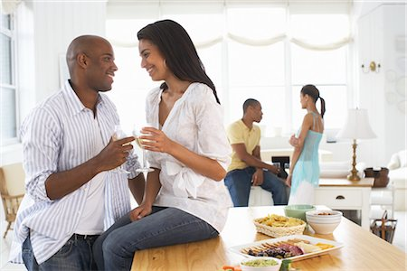 Couples at a Party Stock Photo - Premium Royalty-Free, Code: 600-01614099