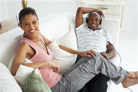 Couple Relaxing on Sofa Stock Photo - Premium Royalty-Free, Code: 600-01614118