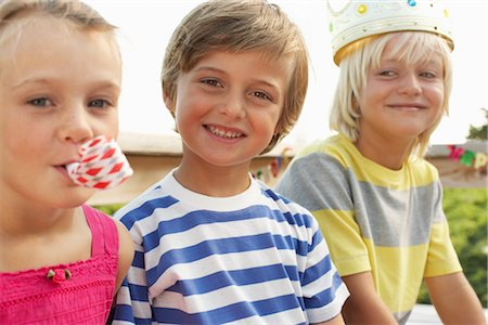 Children at Birthday Party Stock Photo - Premium Royalty-Free, Code: 600-01614138