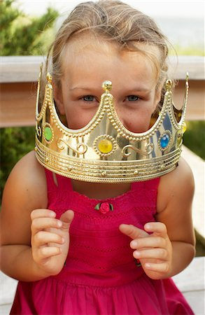 Portrait of Girl Wearing Crown Stock Photo - Premium Royalty-Free, Code: 600-01614142