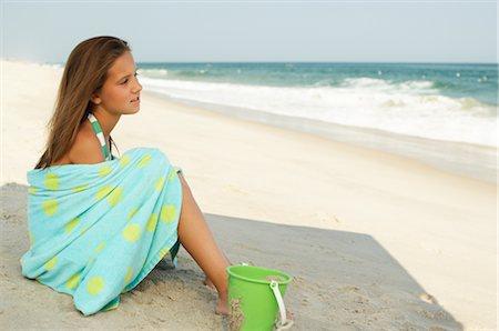 Girl on Beach Stock Photo - Premium Royalty-Free, Code: 600-01614196