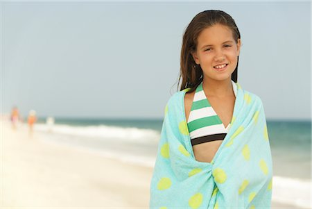 Girl on Beach Stock Photo - Premium Royalty-Free, Code: 600-01614191