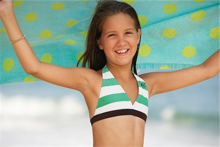 Girl on Beach Stock Photo - Premium Royalty-Free, Code: 600-01614193