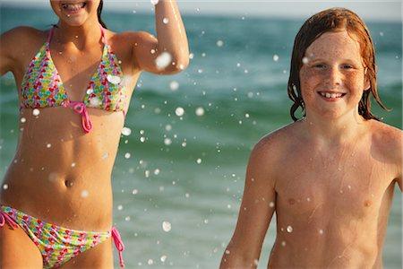Portrait of Boy on Beach Stock Photo - Premium Royalty-Free, Code: 600-01614227
