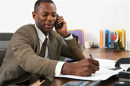 Businessman at Desk Stock Photo - Premium Royalty-Free, Code: 600-01614991