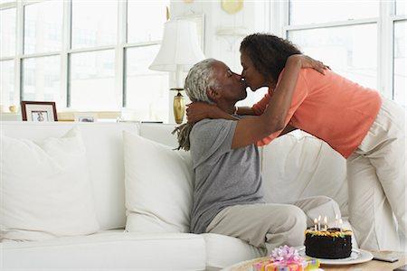 Couple celebrating birthday Stock Photo - Premium Royalty-Free, Code: 600-01615056