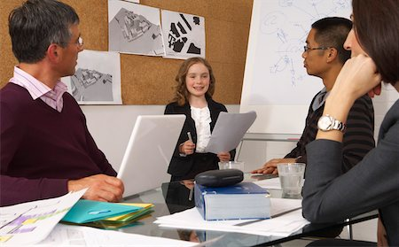 Child Leading Presentation in Office Stock Photo - Premium Royalty-Free, Code: 600-01616435