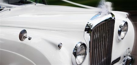 Close-up of Car Decorated For Wedding Stock Photo - Premium Royalty-Free, Code: 600-01630179