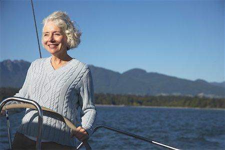 Woman Sailing Stock Photo - Premium Royalty-Free, Code: 600-01633249