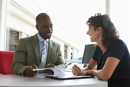 Salesman and Client Stock Photo - Premium Royalty-Free, Code: 600-01645922