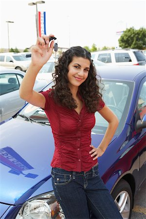 Portrait of New Car Owner Stock Photo - Premium Royalty-Free, Code: 600-01645932