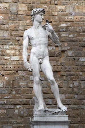 statue of david - Michelangelo's David, Piazza della Signoria, Florence, Italy Stock Photo - Premium Royalty-Free, Code: 600-01694754