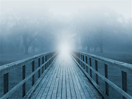 Light at the End of a Bridge Stock Photo - Premium Royalty-Free, Code: 600-01695401