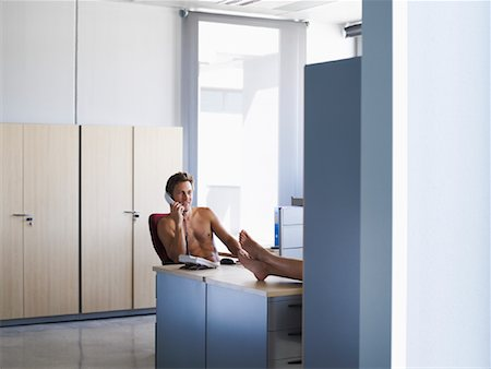 Nude Coworkers in Office Stock Photo - Premium Royalty-Free, Code: 600-01695657