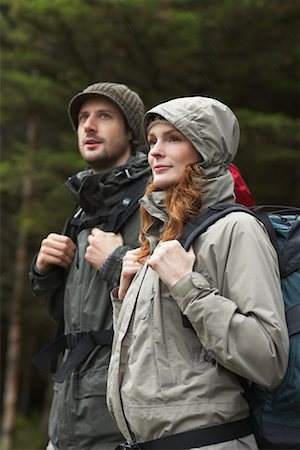 simsearch:600-00846421,k - Couple Backpacking Stock Photo - Premium Royalty-Free, Code: 600-01693948