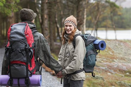 simsearch:600-00846421,k - Couple Backpacking Stock Photo - Premium Royalty-Free, Code: 600-01693950
