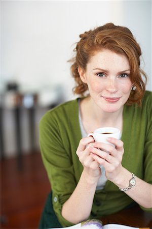 Woman with Coffee Stock Photo - Premium Royalty-Free, Code: 600-01693960